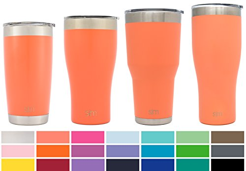 Simple Modern 30oz Cruiser Tumbler Travel Mug - Vacuum Insulated Water Coffee Cup Double Wall - Hydro 18/8 Stainless Steel Flask Thermos - Grapefruit by Simple Modern