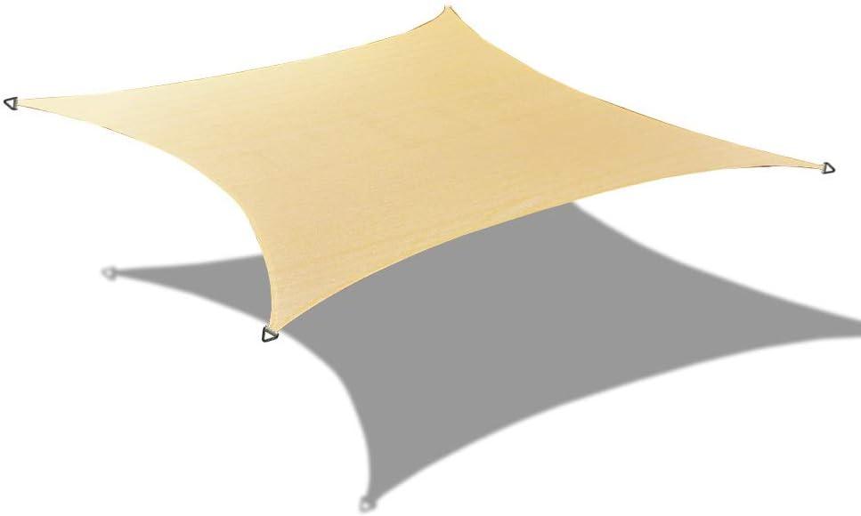 Alion Home Custom HDPE UV Block Sun Shade Sail Permeable Rectangle Canopy with Hardware kit (16' x 20', Beige)