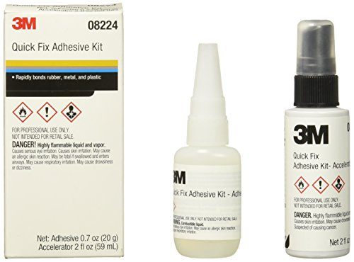 3M 08224 Automix Quick Fix Adhesive Kit - 0.7 oz. Adhesive and 2.0 oz. Accelerator by 3M