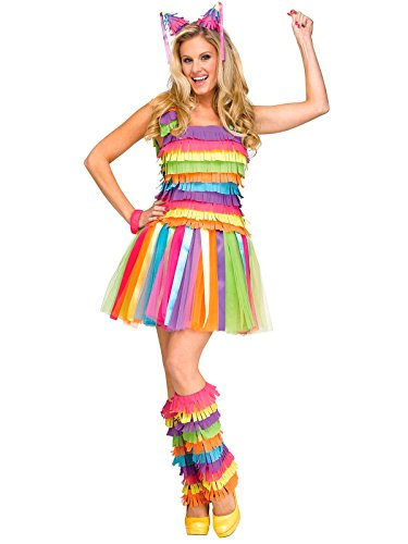 Party Pinata Dress Adult Costume Medium/Large