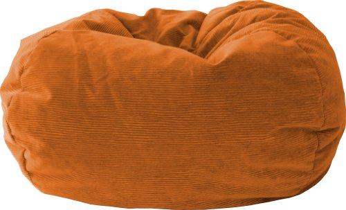 Gold Medal Bean Bags 30012859108 X-Large Amigo Corduroy Suede Bean Bag, Orange