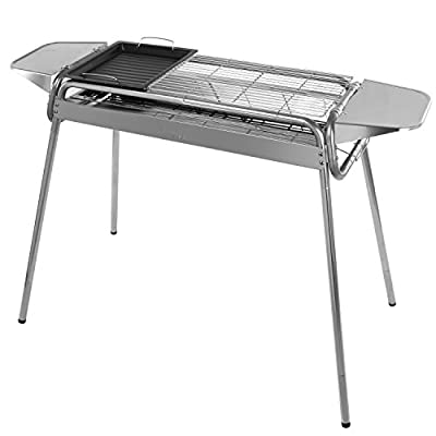 WolfWise Portable Folding Stainless Steel Charcoal Grill by WolfWise