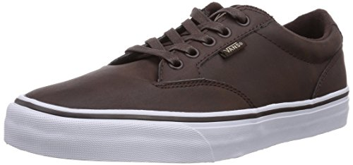 Vans Mens Winston (cuir) Chaussure De Skate Coco / Blanc