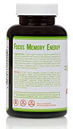 FreeMind Supplements - Vegan Nootropic Brain Supplement with Ashwagandha & Ginkgo Biloba for Focus , Memory , Energy & Reduced Anxiety