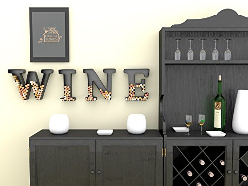 Wine Letter Cork Holder Art Wall Décor