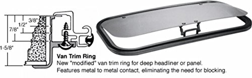 SFC/CRL 17 x 35 AutoPort Sunroof Van Trim Ring - Solar High Performance Glass by CR Laurence