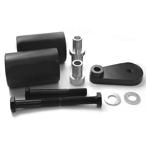 Wotefusi Motorcycle New Black Pair 2 Pieces Frame Sliders Screws Set for Yamaha Yzf600 R6 2003-2005 2004