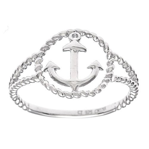 Sterling Silver Twisted Anchor Ring product image