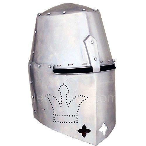 AH6109 14Th Century Over Bearer Great Helmet-14 Gauge Steel ()