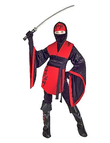 CH & CH Deluxe Red and Black Ninja Disfraz, medium: Amazon ...