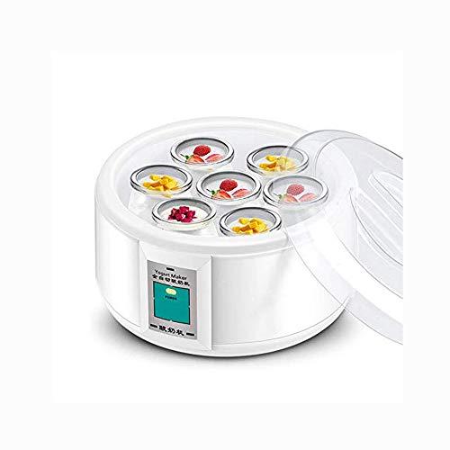 HIZLJJ Automatic Yogurt Maker Machine 7 Glass Greek Jars Customize To Your Flavor And Thickness Electric Maker 1.5L