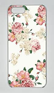 Sweet Flower Pattern 001 Iphone 5 5S Hard Shell with Transparent Edges Cover Case by Lilyshouse