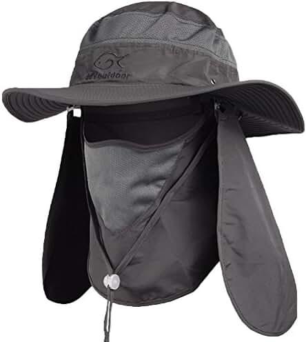 Ddyoutdoor™ 07-281 Fashion Summer Outdoor Sun Protection Fishing Cap Neck Face Flap Hat Wide Brim