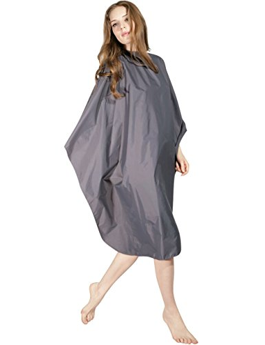 WM BEAUTY Hair Styling Cape Hair Salon Cutting Shampoo Cape 58 x 50 inches with Snap Closure Water Repellent Gray
