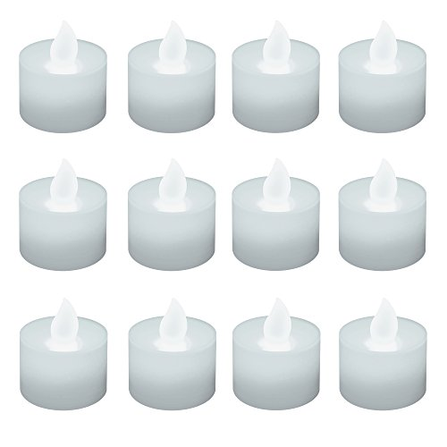 Lumabase 36612 12 Count Battery Operated Tea Lights, White