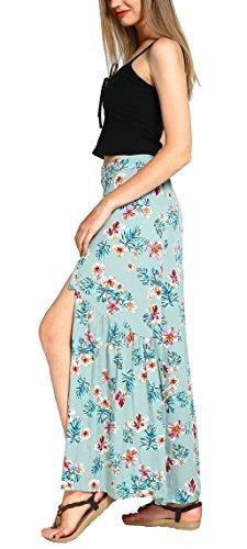 Urban GoCo - Falda - plisado - para mujer Canal Blue