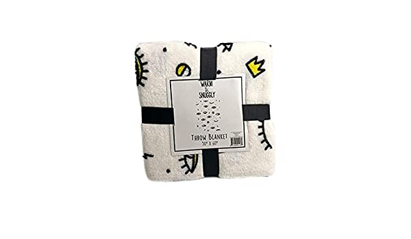 Amazon.com  Warm and snuggly Lux and Beyond Emoji Eye Lashes   Lips Plush  Soft Cozy Throw Blanket 50in x 60in  Home   Kitchen 060c1f7e9