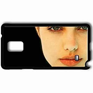 Personalized Samsung Note 4 Cell phone Case/Cover Skin Angelina Jolie Angelina Jolie Actors Black