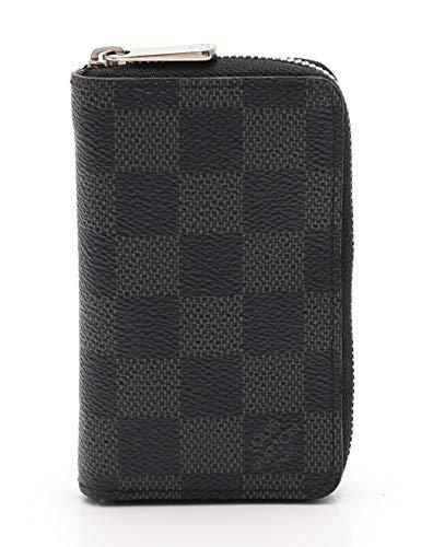 (ルイヴィトン) LOUIS VUITTON ジッピーコインパース ダミエグラフィット コインケース PVC レザー 黒 ラウンドファスナー N63076 中古   B07RTGK292