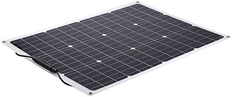 Benkeg Solar Panel,18V 20W Flexibles monokristallines Solarpanel Solarbatterieladung 12V Wasserdichtes Solarpanel für Wohnmobil-Wohnmobilboot