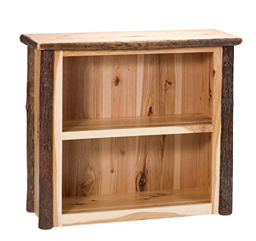 Lodge Shelf - Fireside Lodge Natural Hickory Log Small Bookshelf - Standard Finish