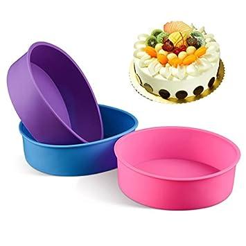Mooyod Molde de Silicona Redondo para Pasteles, Pan, Magdalenas, Molde para Hornear (Color al Azar) 1 Unidad: Amazon.es: Hogar