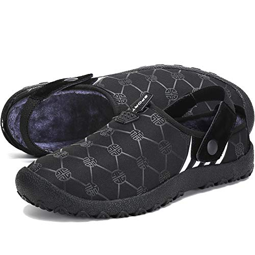 ASLISA Mens Womens House Slippers Home Shoes Winter Snow Indoor Outdoor Anti-Slip Slippers -