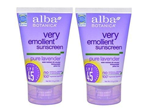Hain Alba Botanica Lavender Sunscreen Spf 45 4oz - ST02