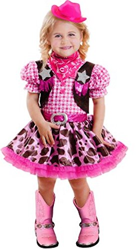 Lil Rodeo Princess Toddler Halloween Costume Dress & Hat 3T-4T (Cowgirl Costume For Toddler)