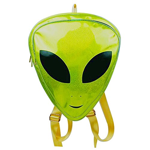 (Zerlar Alien Kids Backpack PVC Hologram Backpack Clear Bag Purse Shoulder Bag)
