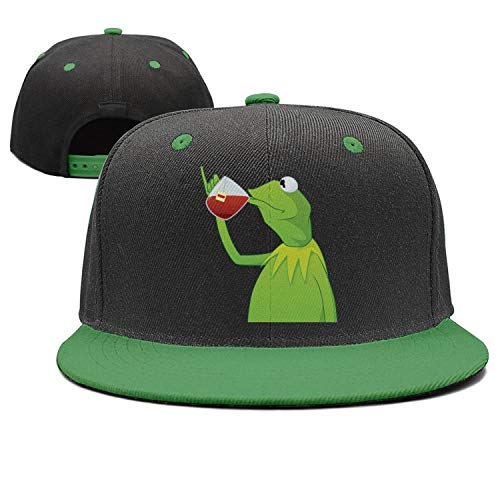 NDSNDS Mens Funny-Green-Frog-Sipping-Tea Printed Summer Hat Cap Womens