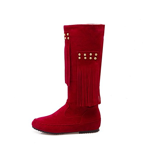 Comfort Red No Womens Closure Fleece BalaMasa Boots Polartec Solid BaRq5OywH