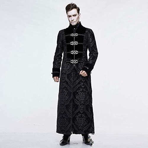 悪魔ファッションスチームパンクゴシックレトロなロングジャケットVoat男性宮殿パーティーロングコートファッションステージ衣装を実行します