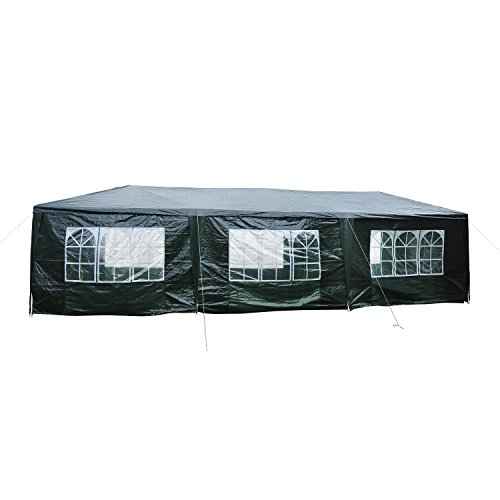 Outsunny 10' x 30' Gazebo Canopy Party Tent w/ Removable ...
