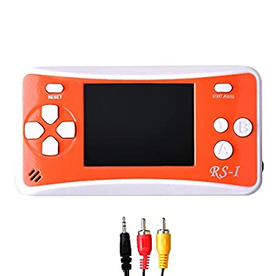 """Gam3Gear 3 x AAA Built-in 152 Retro Classic Games 2.5"""" LCD Handheld Game Console with Speaker Orange/White"""