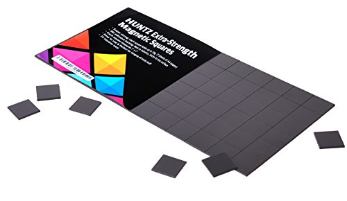 Magnetic Squares, 1 tape sheet of 72 magnetic squares(each 25x25x2mm), magnet on one side, self 3M adhesive on the other side