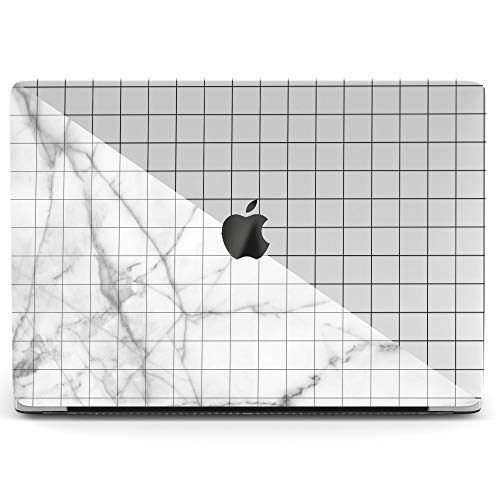 Wonder Wild Mac Retina Cover Case for MacBook Pro 15 inch 12 11 Clear Hard Air 13 Apple 2019 Protective Laptop 2018 2017 2016 2015 Plastic Print Touch Bar Geometric White Marble Cell Minimal Lines