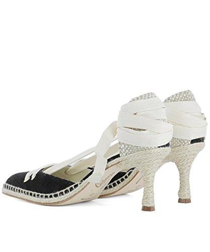 Castañer Castaner Mujer 020472100 Negro Tela Zapatos Altos
