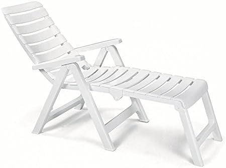 Sillón con alargador de resina blanco, sillones plegables de jardín, sillón convertible en edredón de cuna: Amazon.es: Hogar