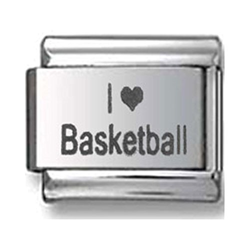 I Love Basketball Italian charm (Italian Charm Display)
