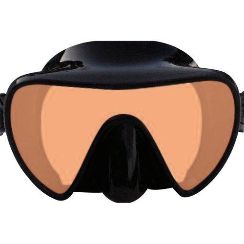 SeaDive Frameless SeaLite Rayblocker-HD w/Anti-Fog Scuba/Spearfishing/Freediving Dive Mask (SDM963BKSFL) (Dive Scuba Diving Mask W)