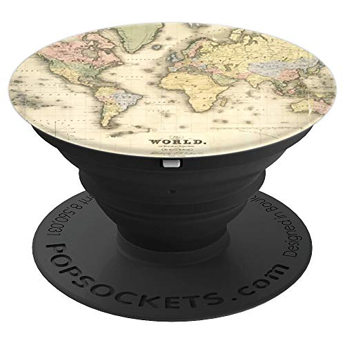 World Map Earth Globe 16th Century Design - PopSockets Grip and Stand for Phones and Tablets
