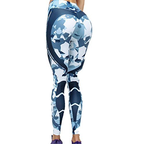Londony❤ღ♕ Athletic Pants 3D Polygons Print Pants,Londony Women's Yoga Pants Tummy Control Workout Capris Leggings