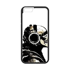 """QSWHXN Skull Art 1 Phone Case For iPhone 6 (4.7"""") [Pattern-2]"""
