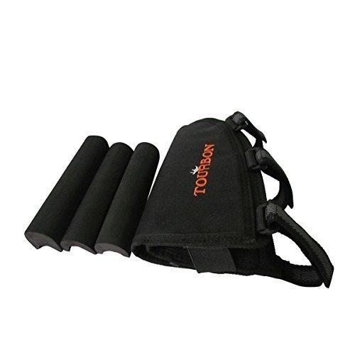 Left Hand 2 Riser (Tourbon Adjustable Cheek Rest Riser Pad Rifle Buttstock Shell Holder (Black , Left Hand))