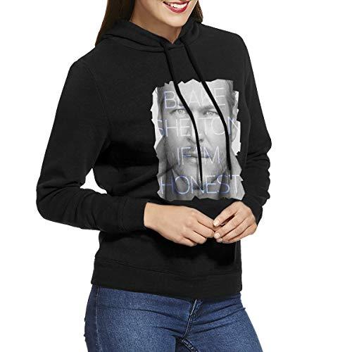 Kangtians URAHARA Blake Shelton If I'm Honest Women's Hooded Sweatshirt Black S -