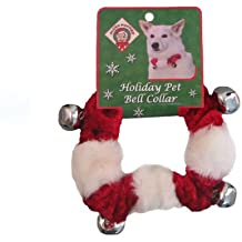 Outward Hound Kyjen  30039 Dog Bell Collar Holiday and Christmas Accessories for Dogs, Large, Red