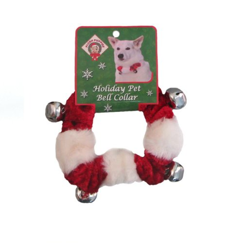 Outward Hound Kyjen  30041 Dog Bell Collar Holiday and Christmas Accessories for Dogs, Small, Red ()