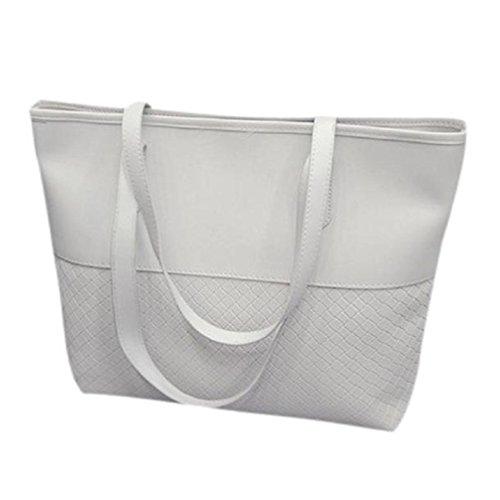 Messenger Bag Tote Handbag Large Satchel Bluester Women White Purse Shoulder qB0WcFYF