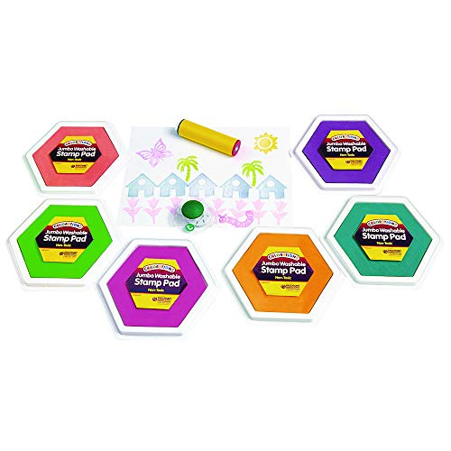 - Colorations Classic Candy Colors Jumbo Washable Stamp Pads Arts and Crafts Material for Kids (Pack of 6)
